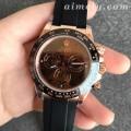 N厂V3版劳力士玫瑰金迪通拿陶瓷圈精仿手表 尺寸功能一致
