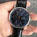 ZF厂万国柏涛菲诺计时系列蓝面金丁复刻手表 修正其他版本不足