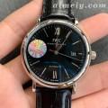 FK厂万国柏涛菲诺系列黑面皮带版高仿手表 原装机芯