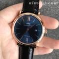 FK厂万国柏涛菲诺系列蓝面金壳精仿手表 一比一开模