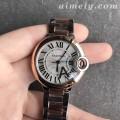 V6厂卡地亚蓝气球系列33毫米玫金圈女士复刻手表