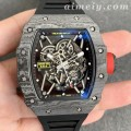 ZF厂理查德米勒RM35-02碳纤维高仿手表 表带表扣与正品通用
